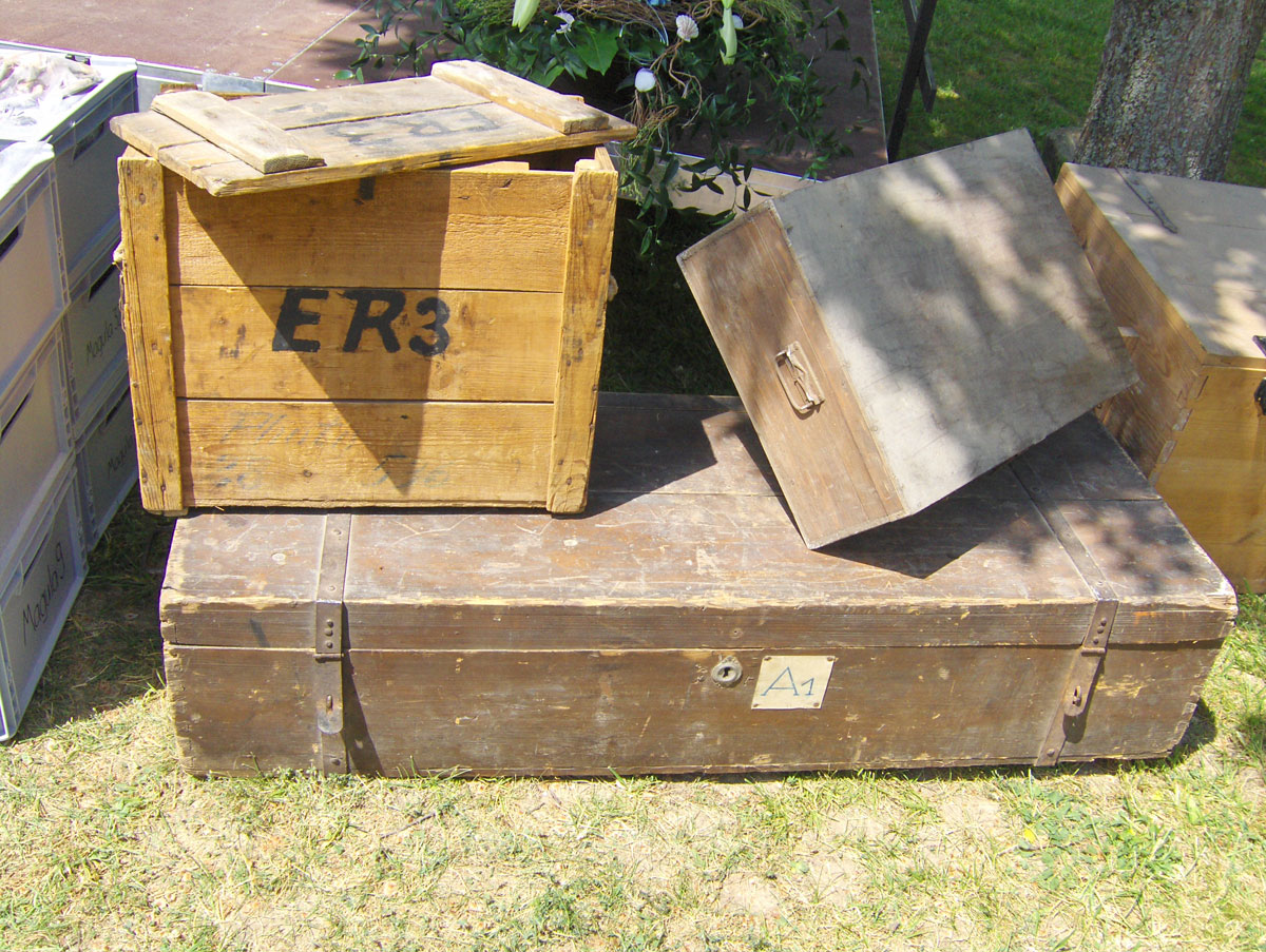 Τα κιβώτια με τα οποία φυγαδεύτηκαν οι αρχαιότητες την περίοδο του Β' Παγκοσμίου Πολέμου (φωτ. Διεύθυνση Τεκμηρίωσης και Προστασίας Πολιτιστικών Αγαθών).