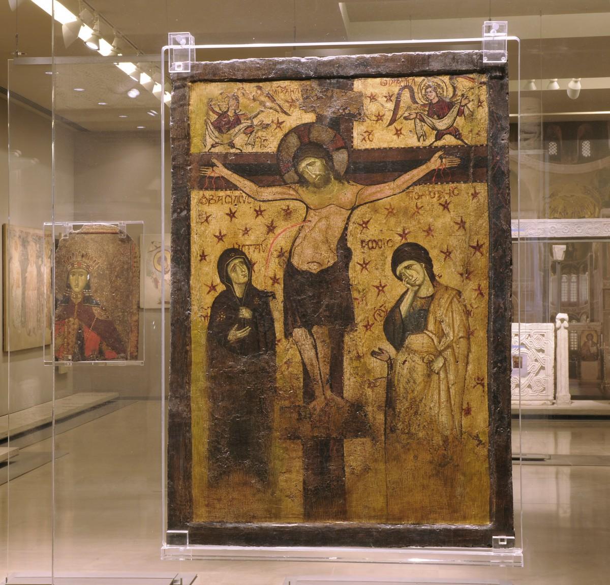 Αμφιπρόσωπη εικόνα του 9ου αι., Βυζαντινό και Χριστιανικό Μουσείο