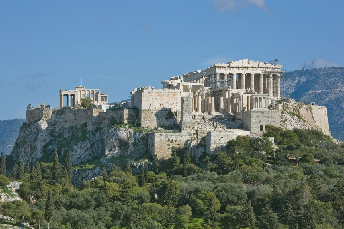 Άποψη της Ακρόπολης από την Πνύκα. © Αρχείο ΥΣΜΑ.