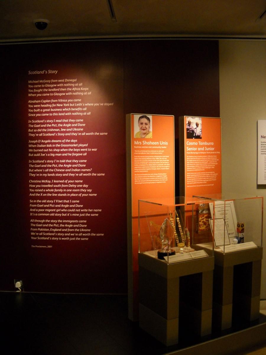Εικ. 6: Εθνικό Μουσείο Σκωτίας: η ενότητα για την ιστορία των μεταναστών, Εδιμβούργο. Φωτ.: Α. Μπούνια.