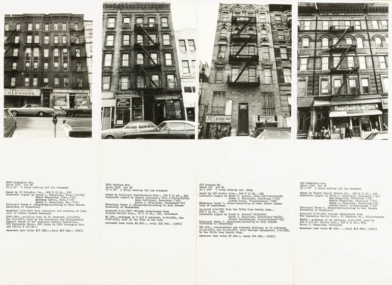 Εικ. 6. Hans Haacke, Shapolsky et al. Manhattan Real Estate Holdings, a Real-Time Social System, as of May 1st, 1971 (λεπτομέρεια), 1971. © Hans Haacke.
