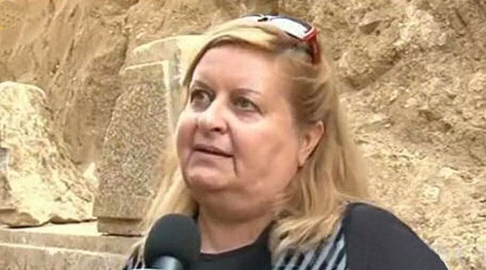 H αρχαιολόγος, επικεφαλής του ανασκαφικού έργου στην Αρχαία Αμφίπολη, Κατερίνα Περιστέρη.
