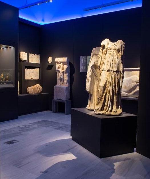 Άποψη της έκθεσης στο Αρχαιολογικό Μουσείο Τεγέας (φωτ. ΛΘ'  ΕΠΚΑ).