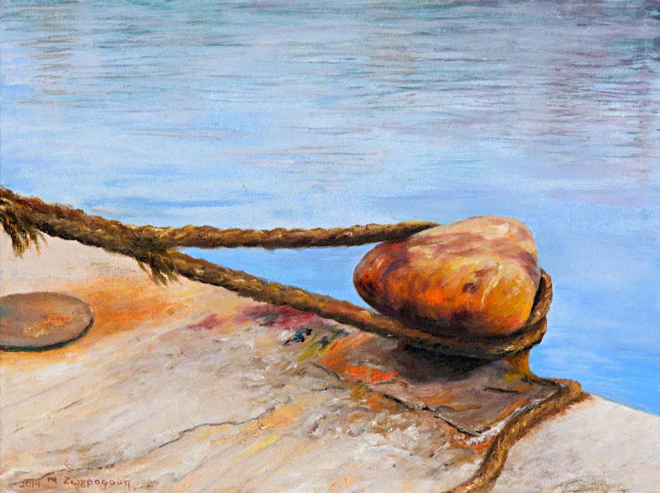Μαρίνα Ζωγραφάκη, «Δέστρα», 2014, λάδι σε καμβά, 30x40 εκ.