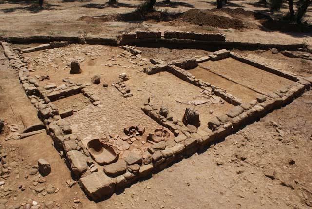 Άποψη της ανασκαφής στην αρχαία Αλίκυρνα.