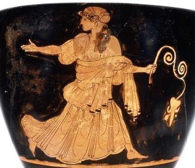 Παράσταση Νύμφης σε αγγείο, 480 π.Χ. Metropolitan Museum of Art, Νέα Υόρκη.