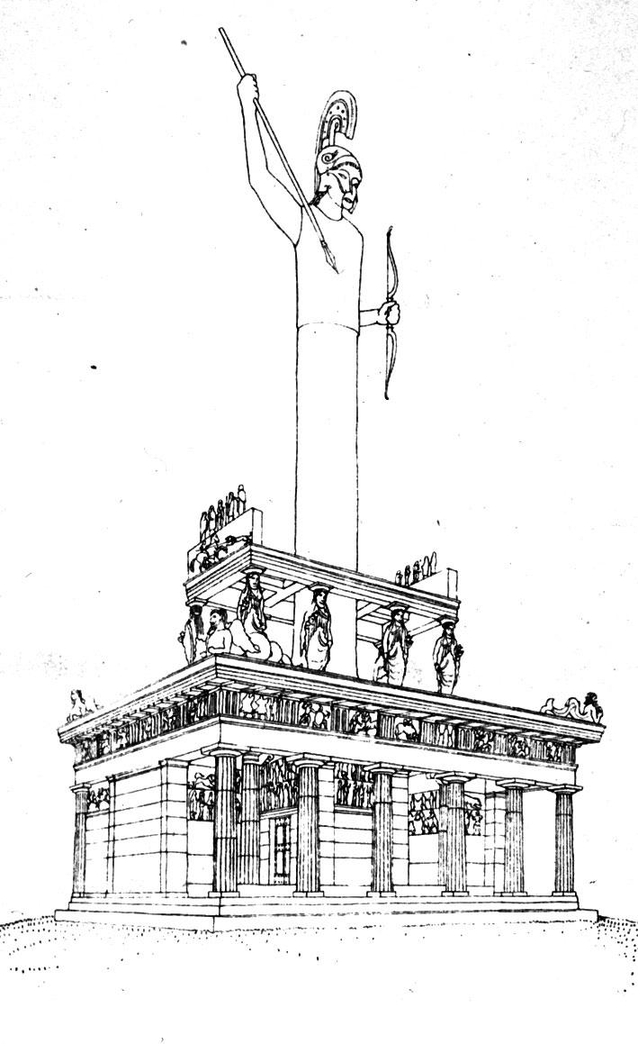 """Εικ. 3. Ernst Fiechter, """"Amyklae. Der Thron des Apollon"""", Jahrbuch des Deutschen Archäologischen Instituts 33 (1918), πίν. 19."""