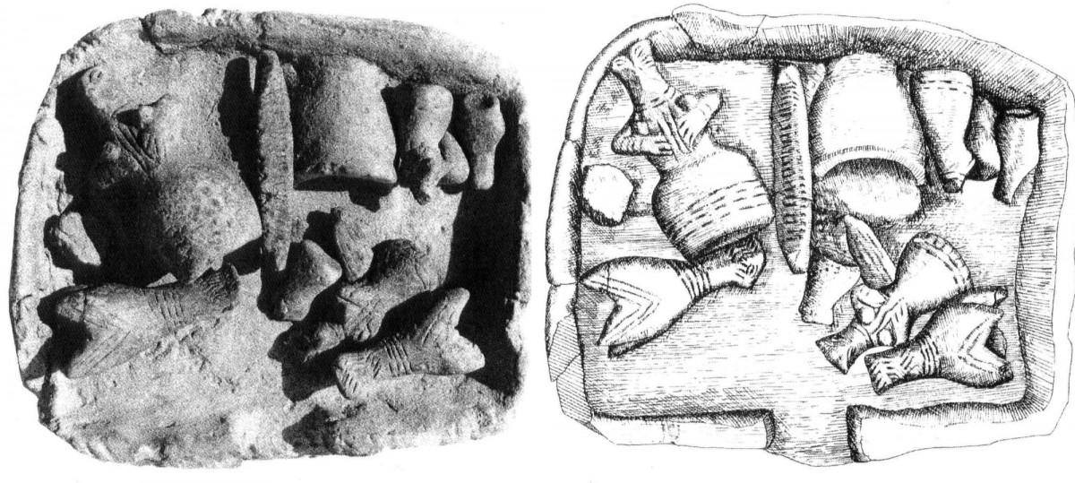 Εικ. 3. Η μέχρι στιγμής αρχαιότερη προσφορά θεμελίωσης στον ελλαδικό χώρο, από οικία της Νεότερης Νεολιθικής περιόδου, στην Πλατιά Μαγούλα Ζάρκου (Gallis 1985, πίν. XV).