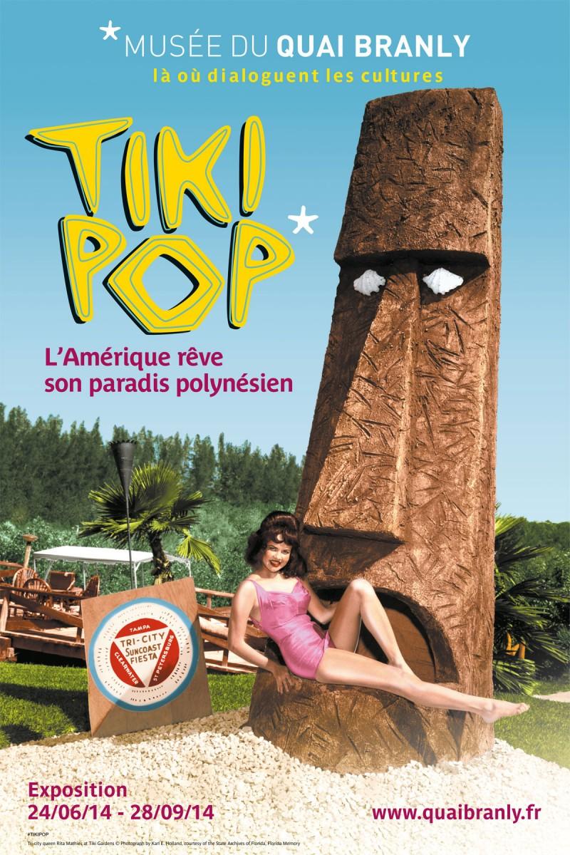 Εικ. 5. Η έκθεση «TikiPop» για την επιρροή των ξυλόγλυπτων της Πολυνησίας στην Αμερική. Quai Branly, Παρίσι.