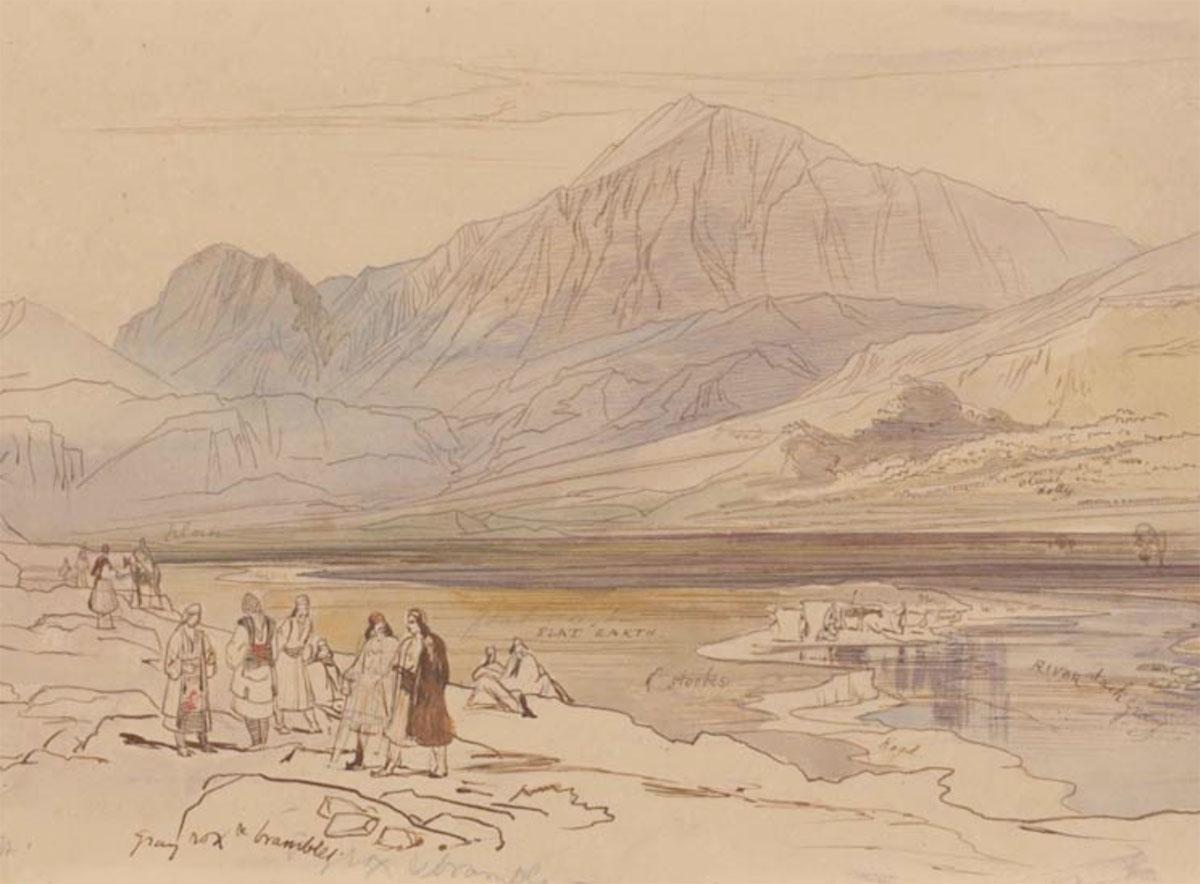Έργο του Edward Lear που θα παρουσιαστεί στην περιοδική έκθεση «Στη Θεσπρωτία με τον Edward Lear» στο Αρχαιολογικό Μουσείο Ηγουμενίτσας.