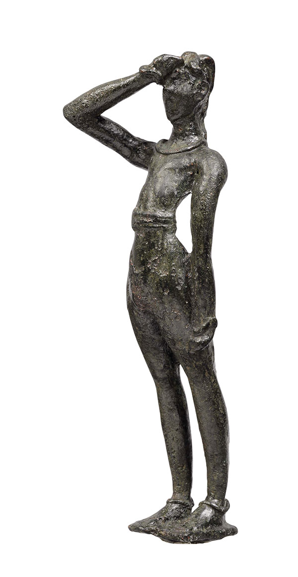 Χάλκινο ειδώλιο ανδρικής μορφής από την Τύλισο, 1600-1450 π.Χ. Αρχαιολογικό Μουσείο Ηρακλείου.