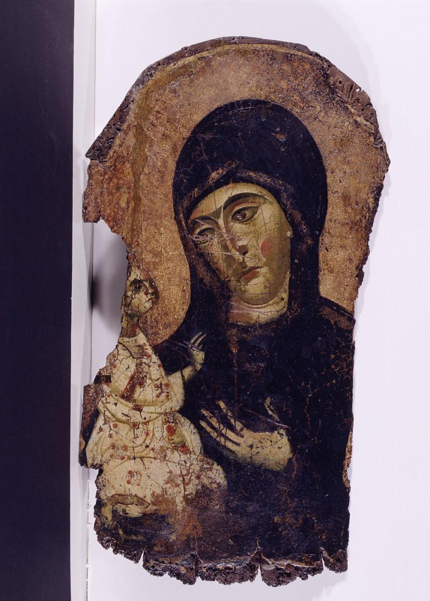 Εικ. 10. Εικόνα δεξιοκρατούσας Θεοτόκου, γύρω στα 1200, πιθανότατα έργο εισηγμένο από την Κύπρο.