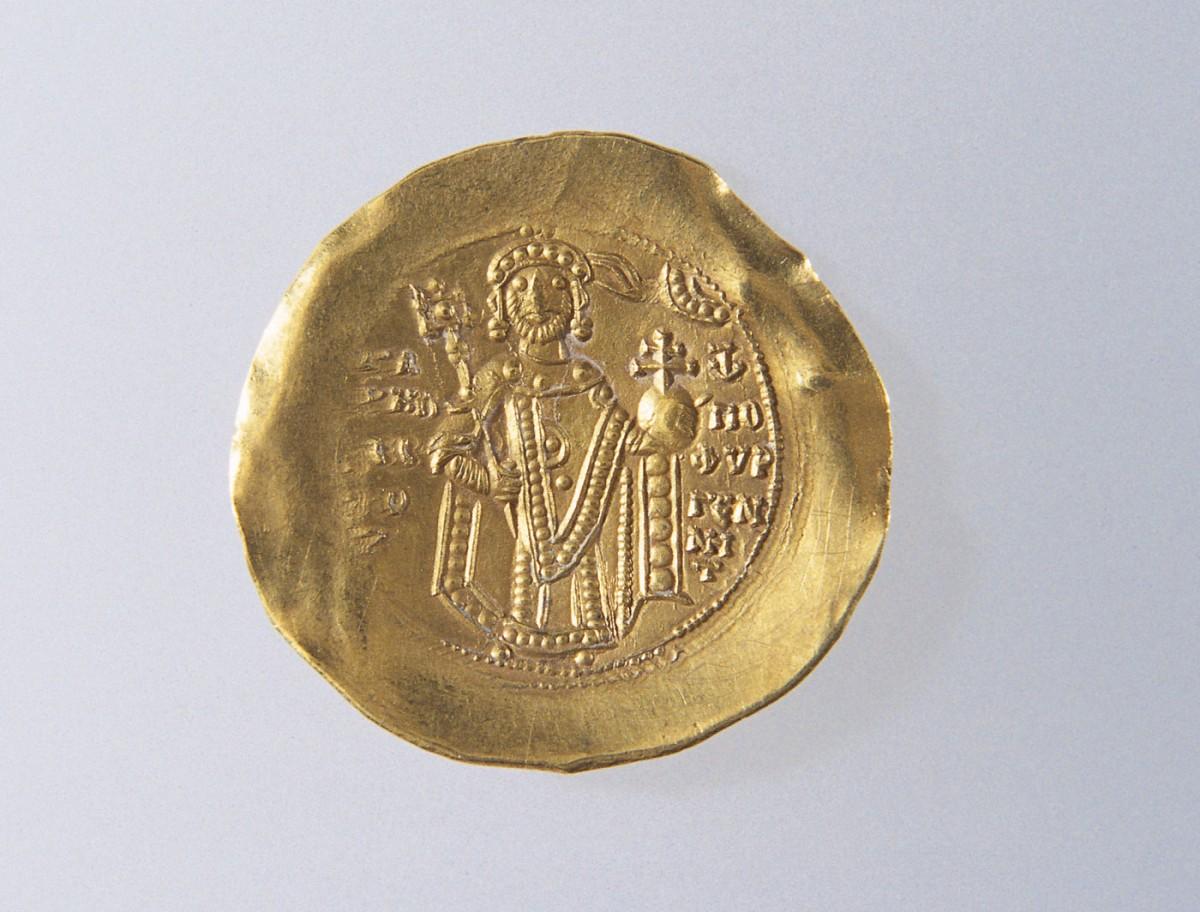 Εικ. 12. Χρυσό υπέρπυρο του Μανουήλ Α΄ Κομνηνού (1143-1180).