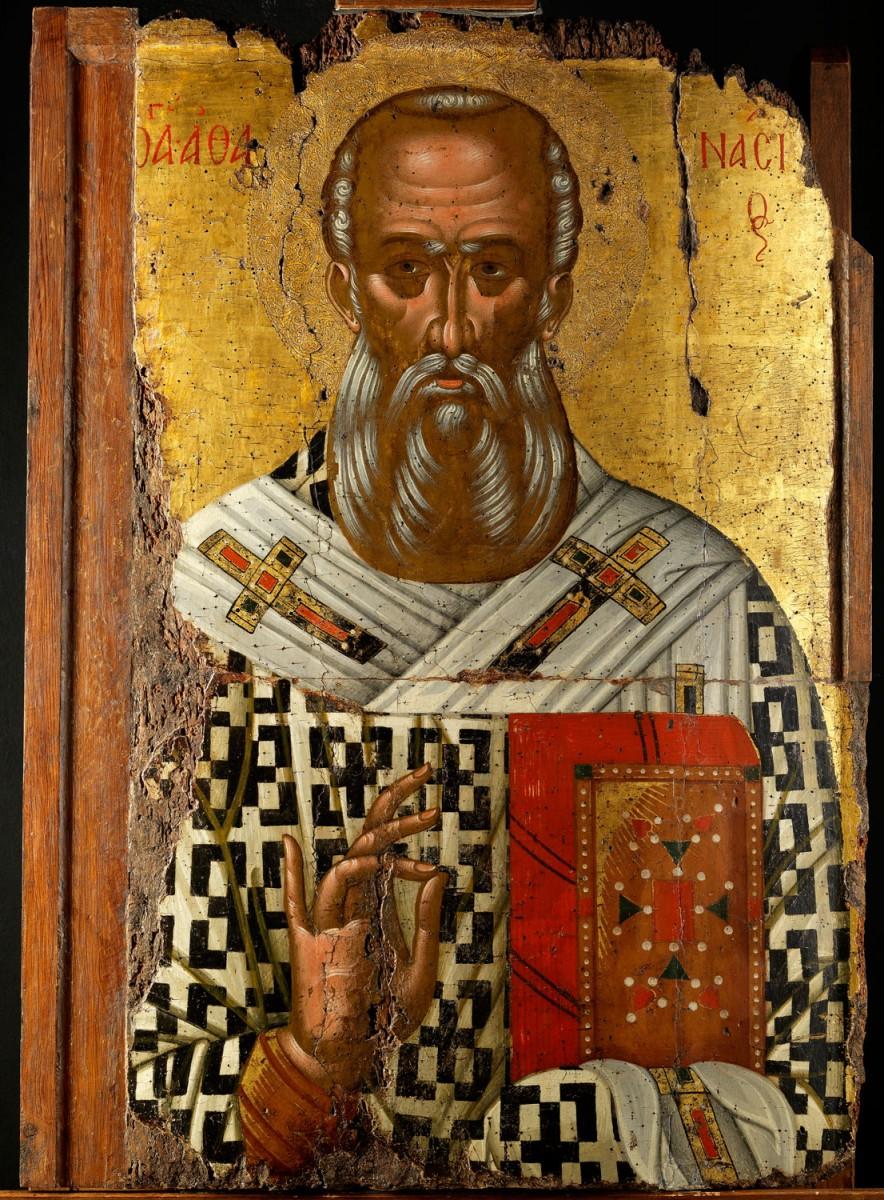 Εικ. 16. Εικόνα με τον άγιο Αθανάσιο Αλεξανδρείας, έργο κρητικής σχολής, τέλους 15ου αιώνα.