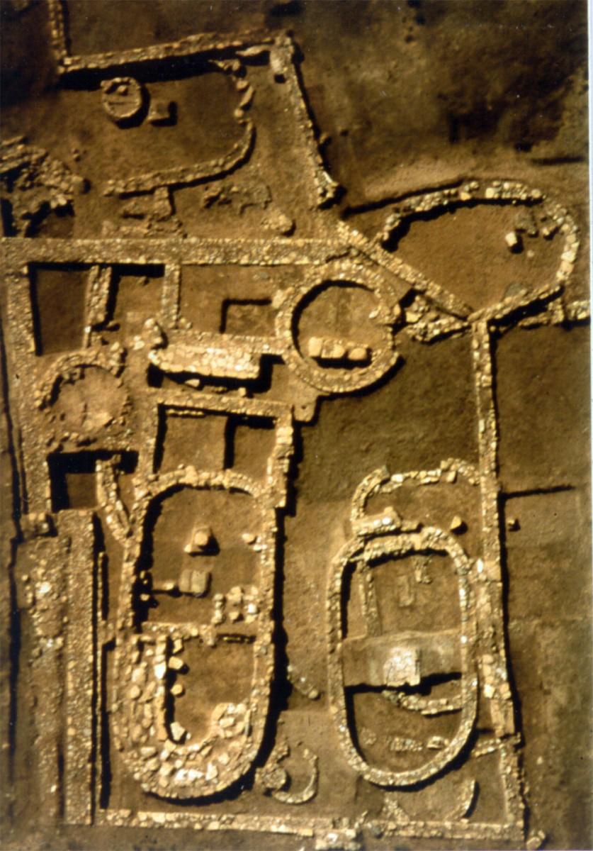 Αεροφωτογραφία της ανασκαφής στον Ωρωπό.