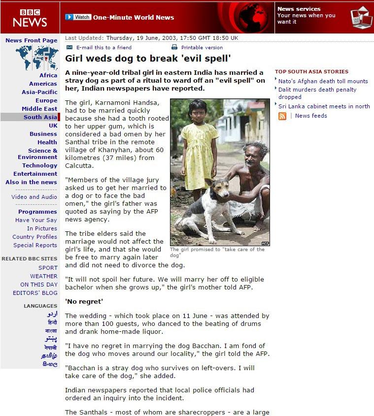Εικ. 5. Ρεπορτάζ του BBC News σε χωριό της Ινδίας [http://news.bbc.co.uk/2/hi/south_asia/3004930.stm].