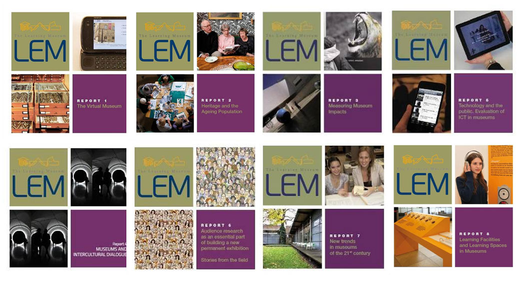 Εικ. 9. Τα εξώφυλλα των οκτώ εκθέσεων-αναφορών του προγράμματος LEM. Όλες οι εκθέσεις είναι προσβάσιμες στο http://www.lemproject.eu/WORKING-GROUPS/Partner-in-Evidence