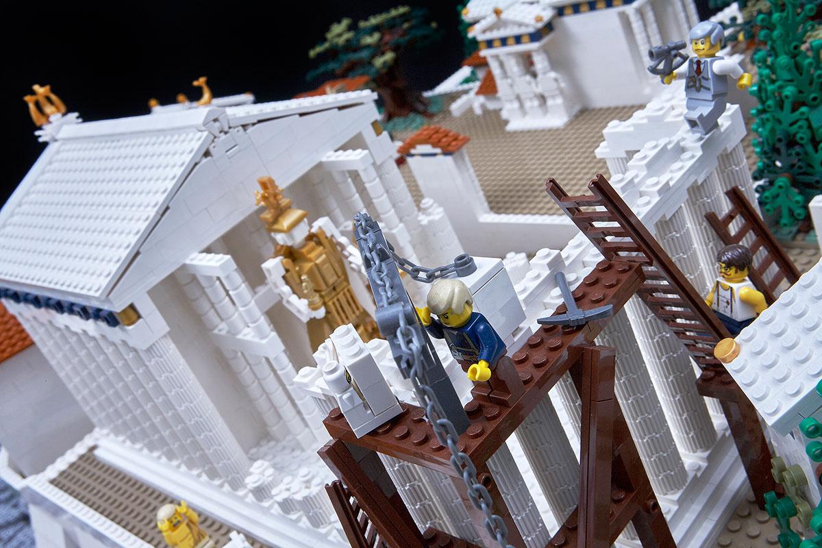 Η Ακρόπολη φτιαγμένη με Lego. Φωτογραφία: Γιώργος Βιτσαρόπουλος. © Μουσείο Ακρόπολης.