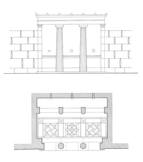 Αρχαιολογικό σχέδιο στο Κέντρο Σπουδών Ζαχαράκη.