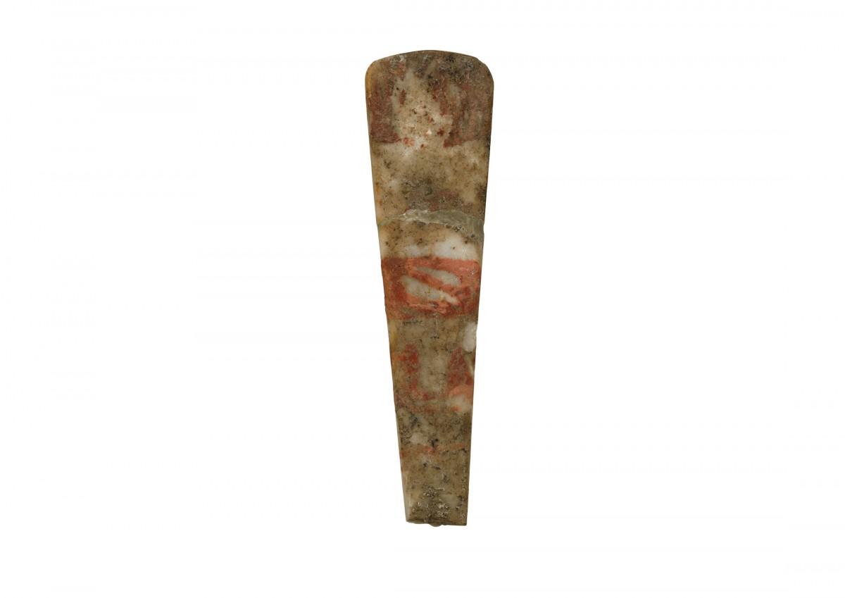 Νεολιθικό σχηματικό ειδώλιο από τον οικισμό του Διμηνίου. Εθνικό Αρχαιολογικό Μουσείο, Αίθουσα Νεολιθικού Πολιτισμού, Προθήκη 10. ΕΑΜ 5989.