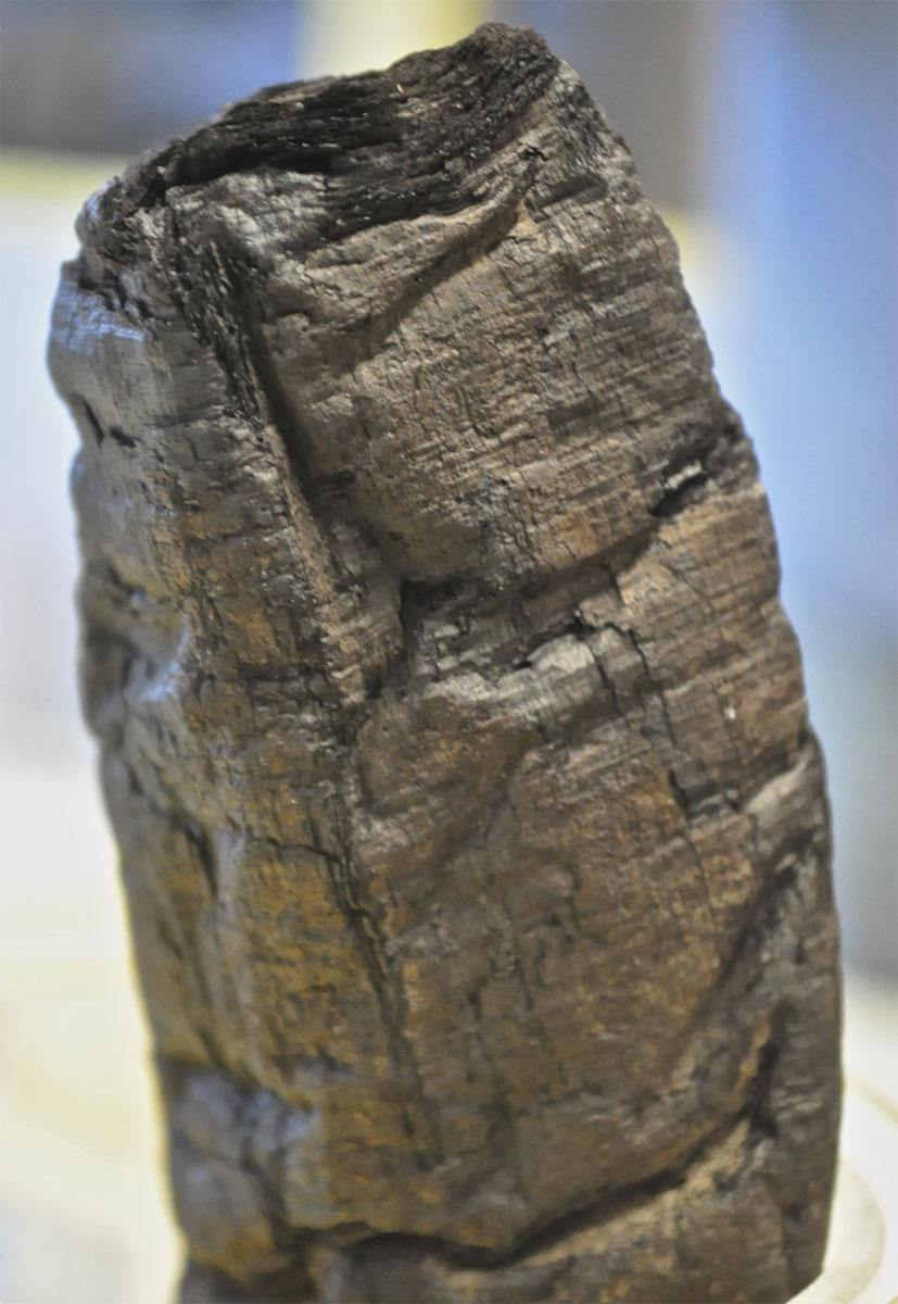Οι πάπυροι που βρέθηκαν σε μια βίλα στο Ερκουλάνεουμ το 1754 είχαν καεί από την καταστροφική έκρηξη του Βεζούβιου το 79 μ.Χ. (φωτ. E. Brun).