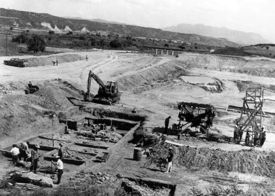Εικ. 4. Έρευνα στο χώρο όπου κατασκευάστηκε η Λίμνη Ηρεμίας, 1969 (πηγή: Ανδρέου/Ανδρέου-Ψυχογιού 2009, 67,14).