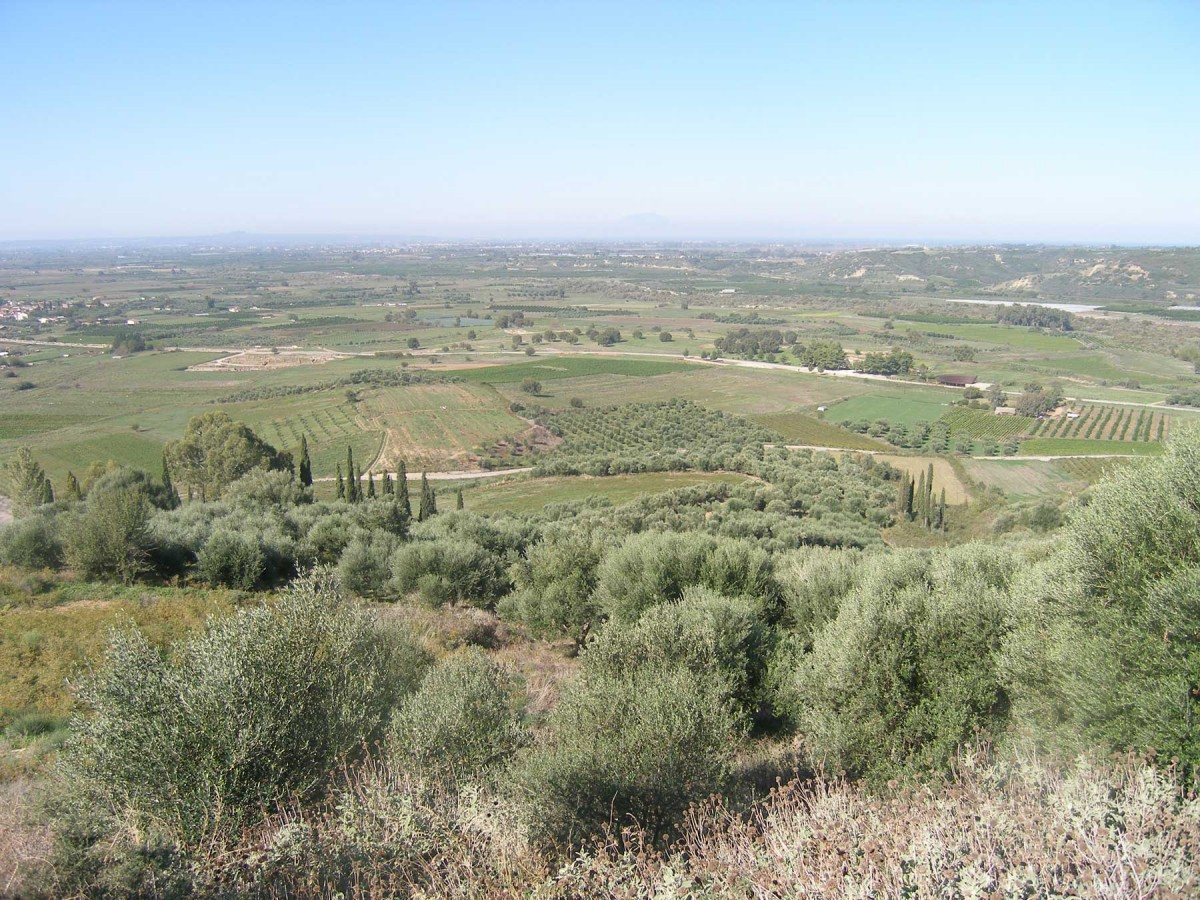 Εικ. 14. Η θέα από το λόφο της ακρόπολης.