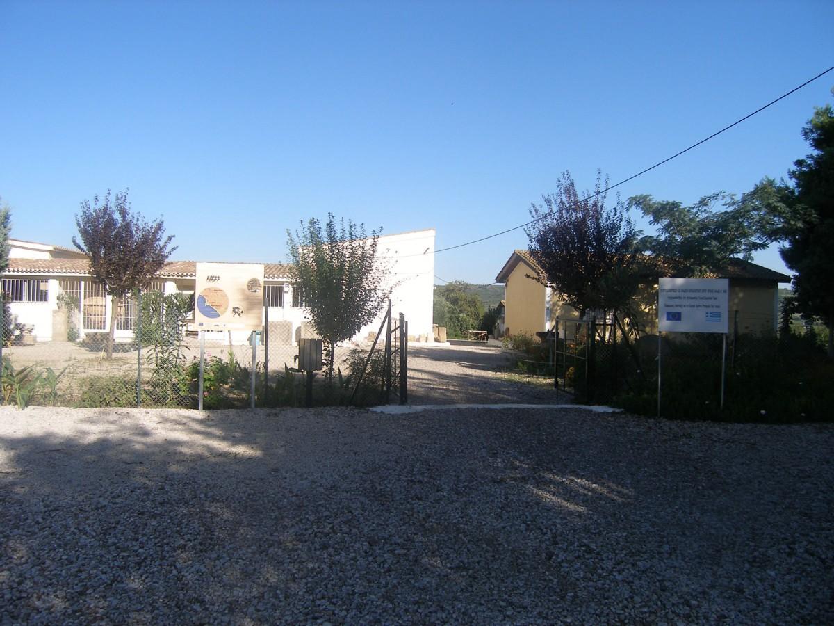 Εικ. 7. Τα κτίρια της Έκθεσης της Ιστορίας των Ανασκαφών (αριστερά) και των Γραφείων της Ζ΄ ΕΠΚΑ (δεξιά).