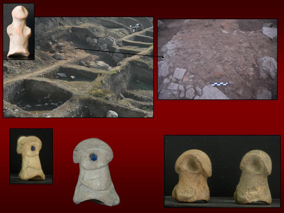Εικ. 17. Ελάτη, θέση Λογκάς: Τα νεολιθικά κατάλοιπα και χαρακτηριστικά ειδώλια.