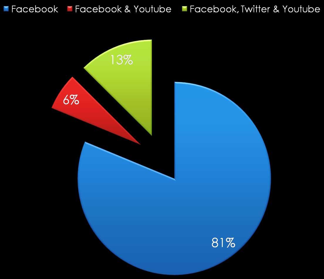 Γράφημα 2. Λογαριασμοί των αρχαιολογικών μουσείων στα κοινωνικά δίκτυα.