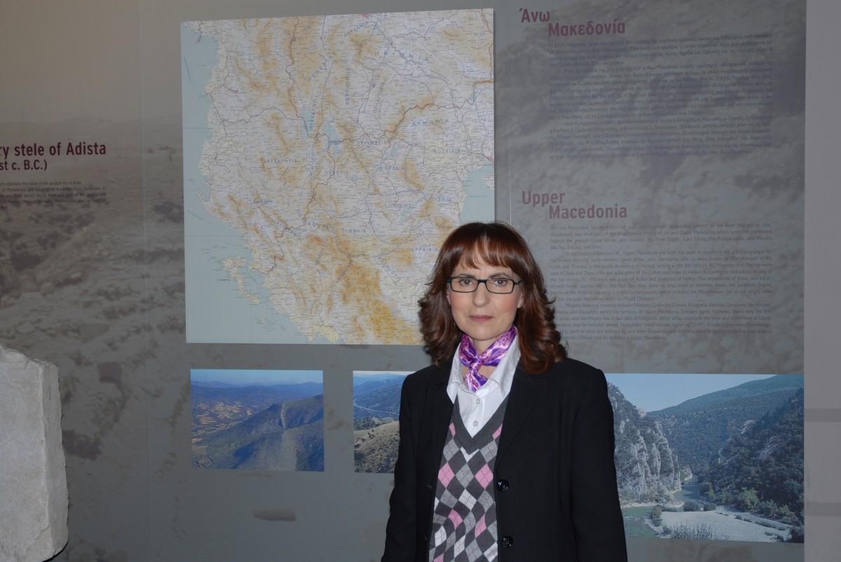 Εικ. 1. Η δρ αρχαιολόγος Γεωργία Καραμήτρου-Μεντεσίδη.