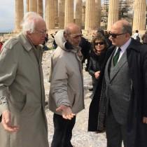 Επίσκεψη Νίκου Ξυδάκη στην Ακρόπολη