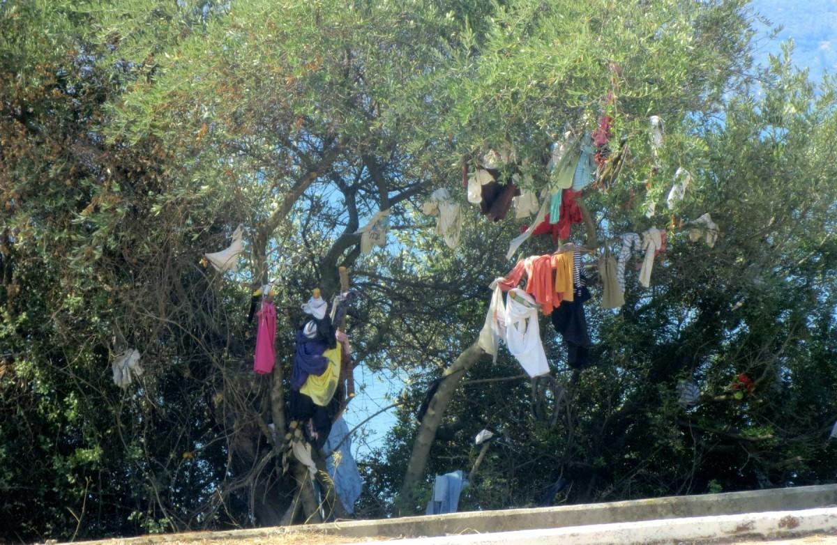 Συχνά οι άνθρωποι αναρτούν μαντήλια, ρούχα ή κλωστές σε κλαδιά δέντρων, τα οποία βρίσκονται κοντά σε κάποια εκκλησία, ως τάματα.