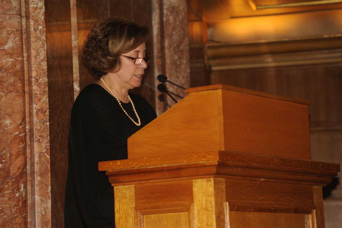 H Μαρία Ανδρεαδάκη-Βλαζάκη, Αναπληρώτρια Γενική Γραμματέας του Υπουργείου Πολιτισμού, Παιδείας και Θρησκευμάτων.