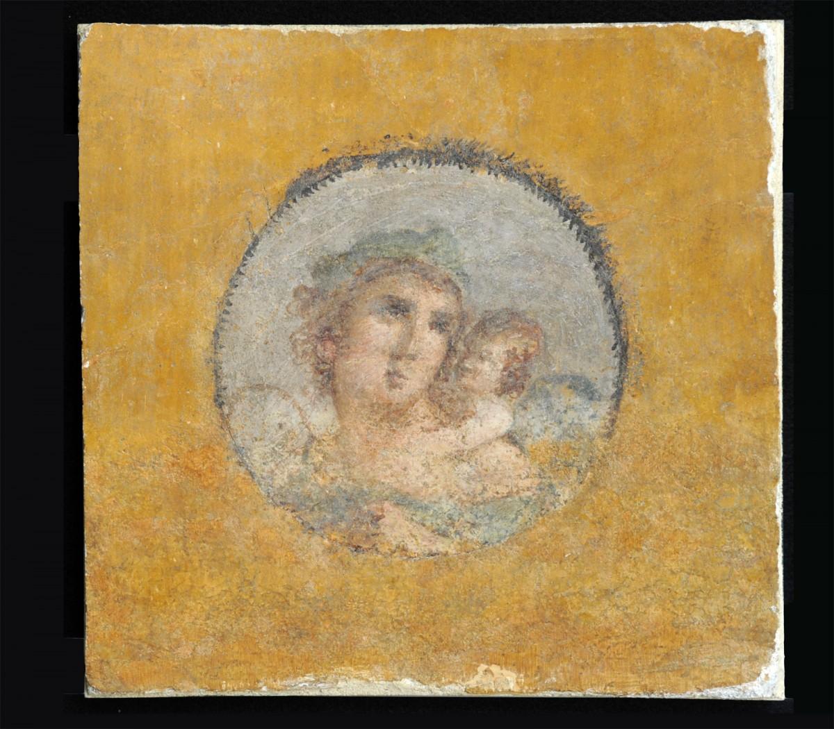 Τμήμα τοιχογραφίας που επιστράφηκε στην Ιταλία από τις ΗΠΑ (φωτ. CARABINIERI CC TPC ROMA).