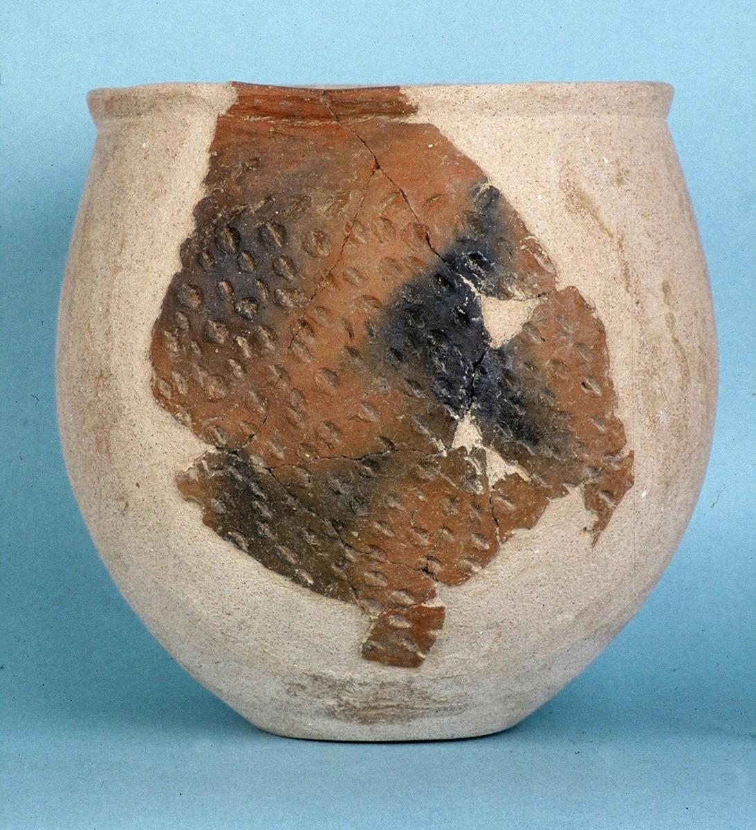 Εικ. 17. Αγγείο της Αρχαιότερης Νεολιθικής με εμπίεστες νυχιές.