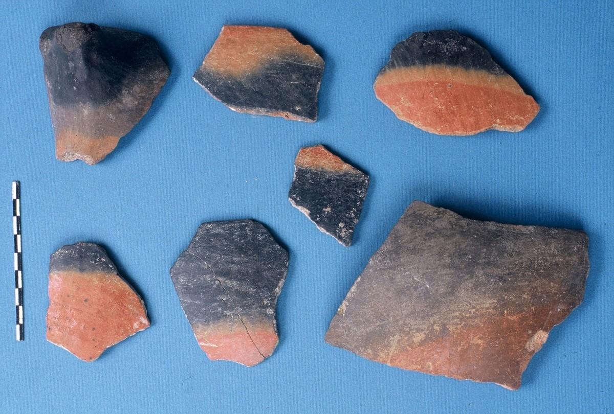Εικ. 18. Μελανοστεφή αγγεία της Αρχαιότερης Νεολιθικής.