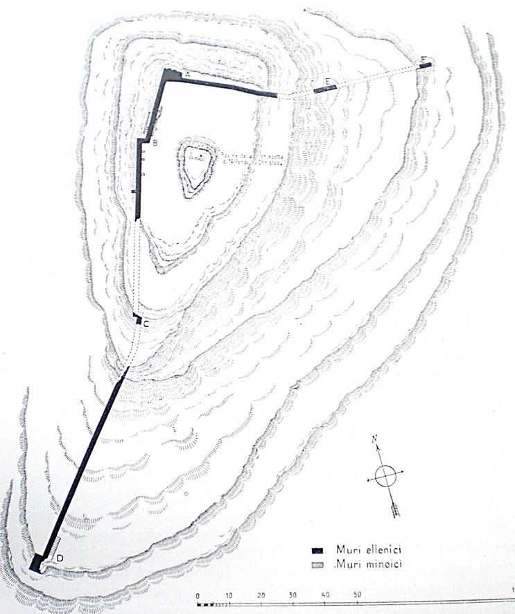 Εικ. 10. Φαιστός: ελληνιστικός οχυρωματικός περίβολος στο λόφο Αφέντη Χριστού.