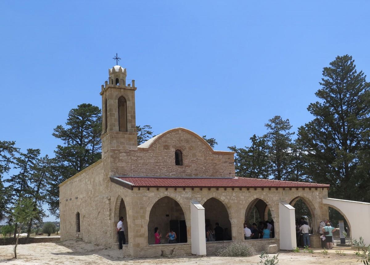 Ο ναός του Αγίου Αυξεντίου στην κοινότητα Κώμη Κεπήρ της Καρπασίας, στο κατεχόμενο τμήμα της Κύπρου (φωτ. ΑΠΕ-ΜΠΕ).