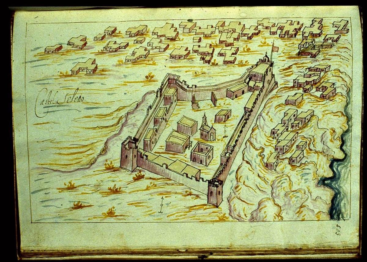 Εικ. 10. Παλιόχωρα Σελίνου, τo Castel Selino (R.F. Monani, 1612).