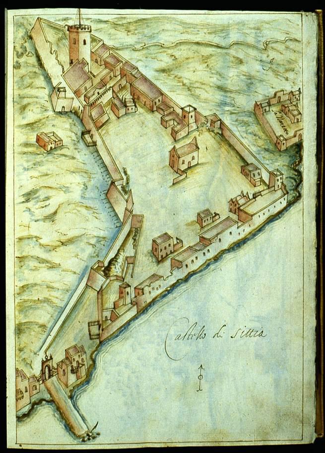Εικ. 21. Η οχυρωμένη πόλη της Σητείας (R.F. Monani, 1612).