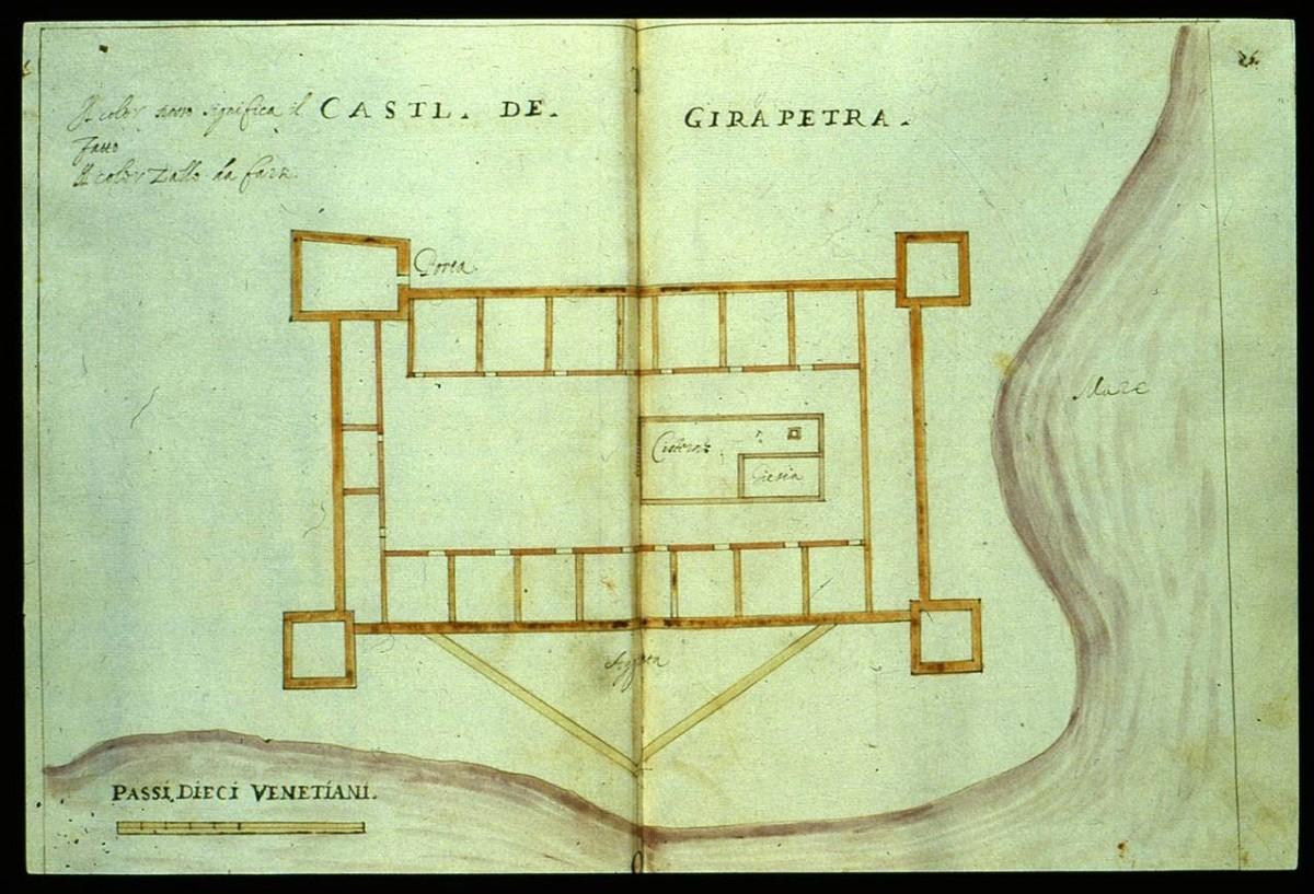 Εικ. 6. Το φρούριο Καλέ της Ιεράπετρας (R.F. Monani, 1612).