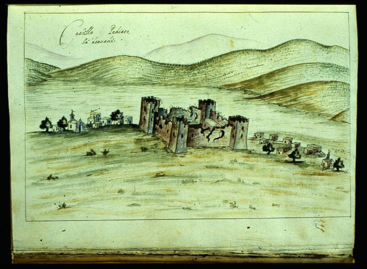 Εικ. 8. Το Castel Pediada και ο οικισμός Καστέλι Πεδιάδας Ηρακλείου (R.F. Monani, 1612).