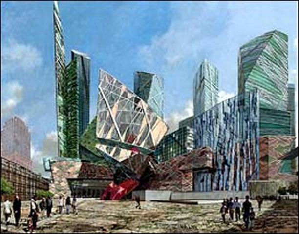 Εικ. 7. The National September 11 Memorial Museum, Νέα Υόρκη, ένα από τα πρώτα σχέδια.