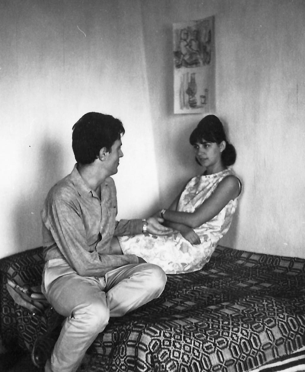 Εικ. 5. Το ζεύγος Σακελλαράκη στην Ζάκρο, 1963.
