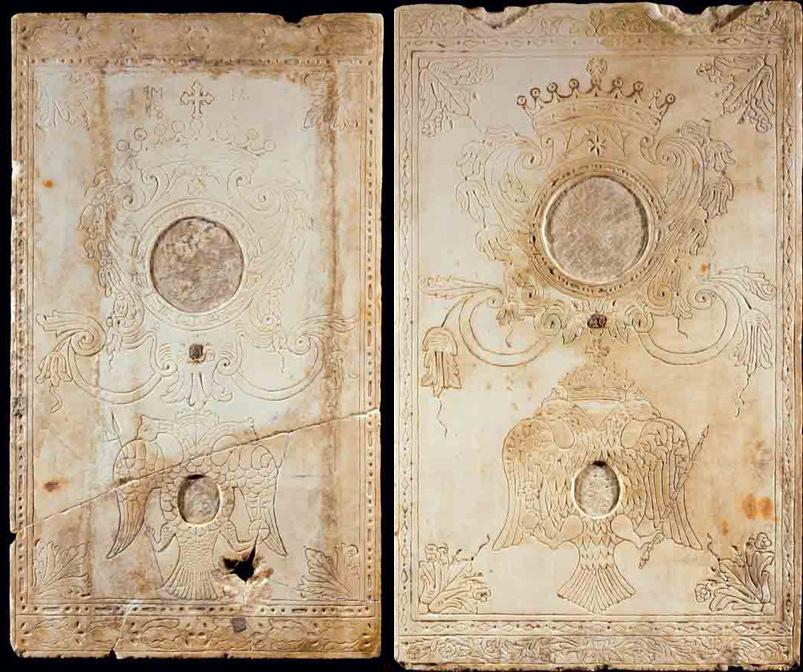 Δίδυμες εγχάρακτες πλάκες του 18ου αιώνα