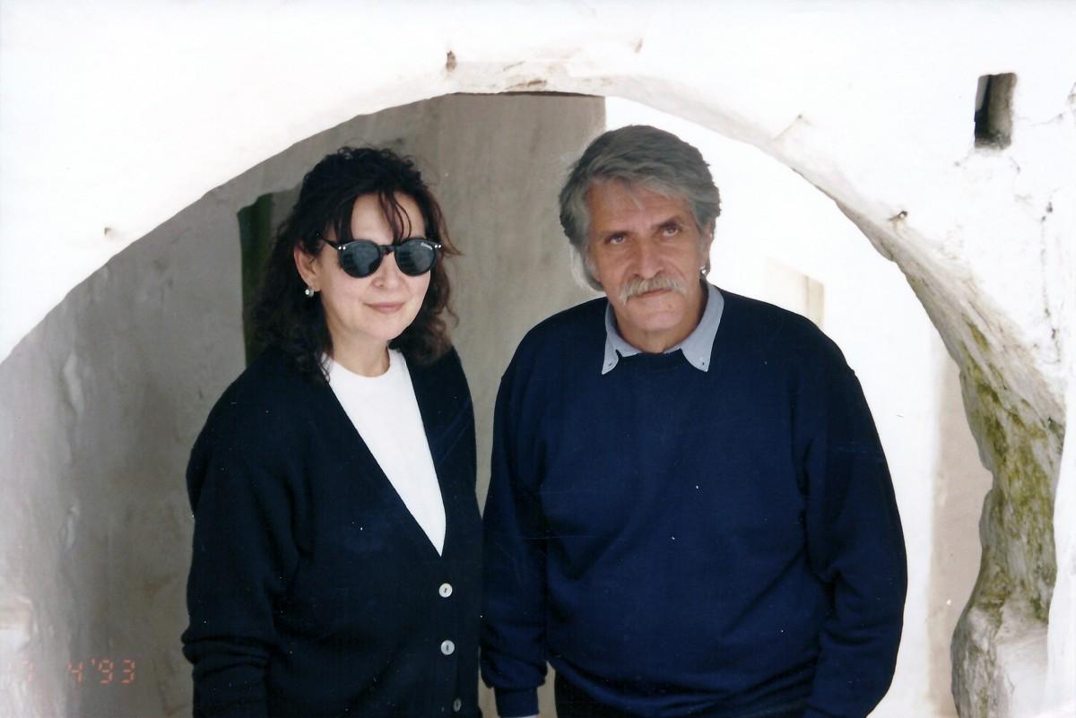 Εικ. 27. Το ζεύγος Σακελλαράκη στην Πάτμο, δεκαετία '90.
