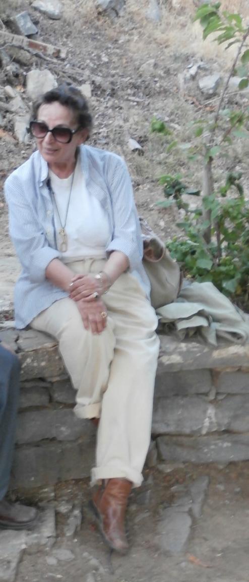 Εικ. 31. Η Έφη Σαπουνά-Σακελλαράκη στη Ζώμινθο, 2014.