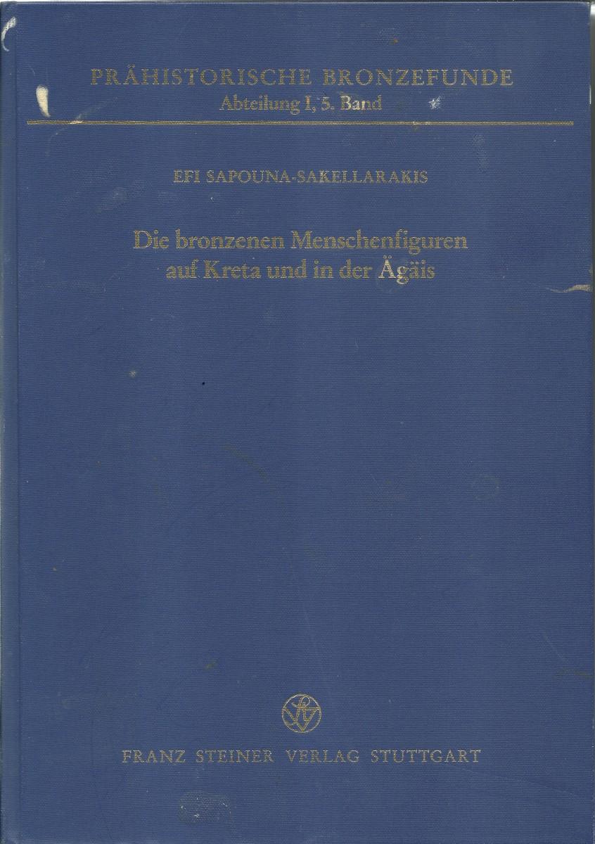 Εικ. 34. Efi Sapouna-Sakellarakis, «Die Bronzenen Menschenfiguren auf Kreta und in der Ägäis», Franz Steiner Verlag, Stuttgart 1995.
