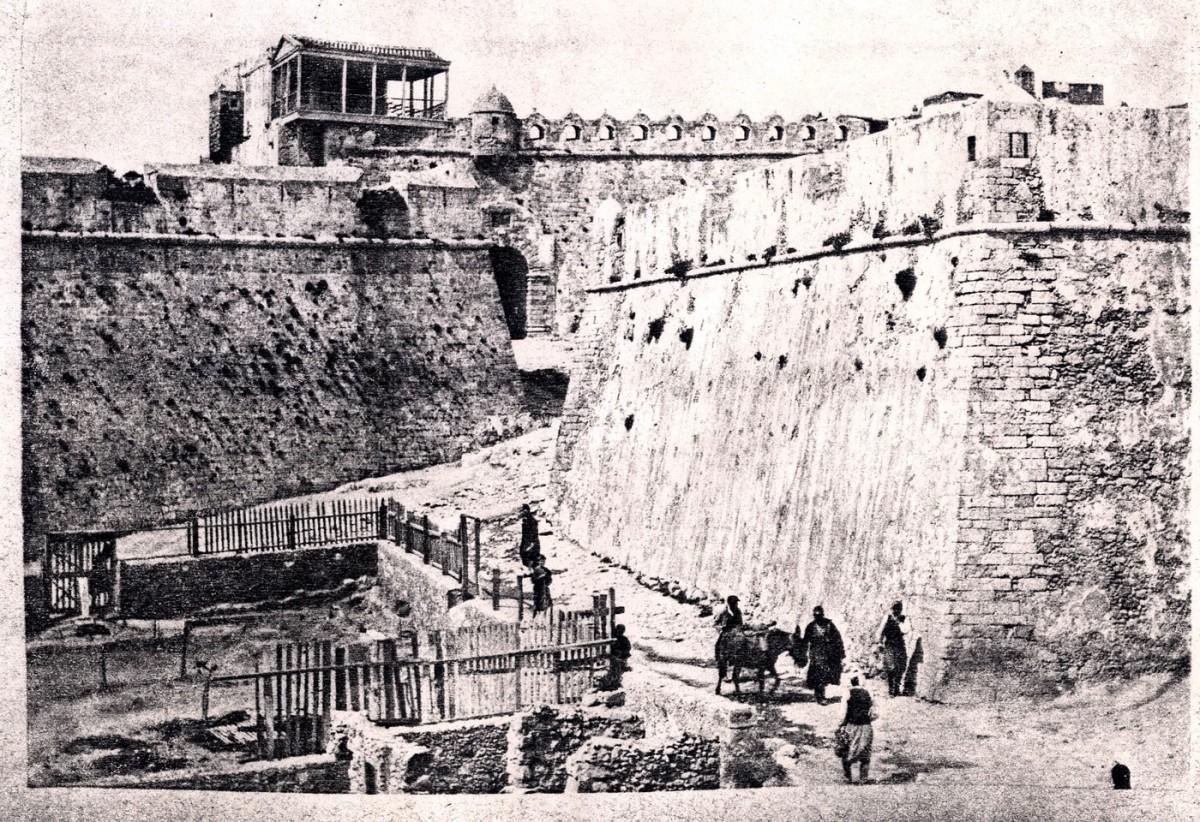 Εικ. 3. Το πενταγωνικό οχυρό ανατολικά του φρουρίου Φορτέτζα Ρεθύμνου, τέλη 19ου αι.